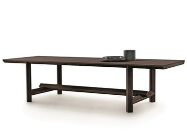 Rectangular solid wood table JOSEF