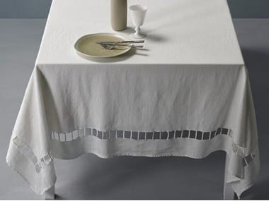 Embroidered linen tablecloth JOUR