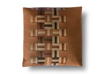 Square leather cushion JOURNEY   Square cushion