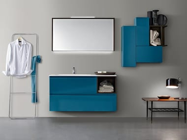 Single wall-mounted vanity unit with drawers JOY 30/31
