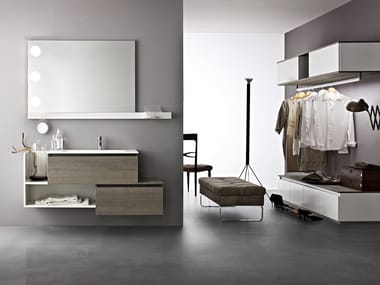 Single wall-mounted vanity unit JOY 78