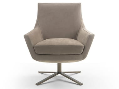 Armchair with 4-spoke base with armrests JOY | Armchair