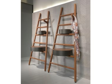 Wall-mounted solid wood hallway unit JOY