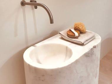 Freestanding marble washbasin JP COLUMN
