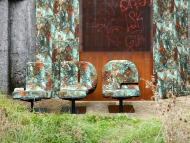 Upholstered fabric armchair JPG