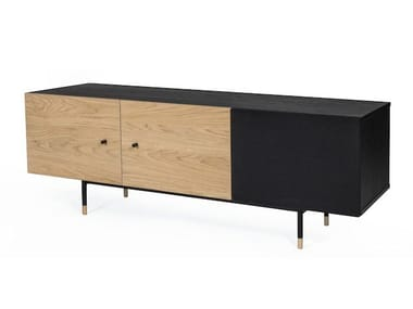 Low lacquered TV cabinet with cable management JUGEND | TV cabinet