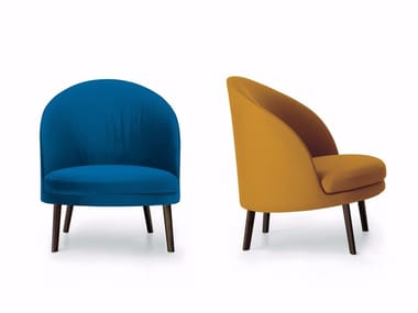 Upholstered fabric armchair JULES | Fabric armchair
