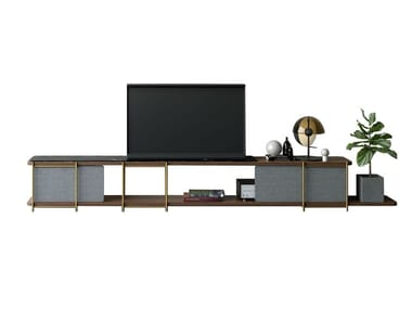 Modular TV set furniture with marbre JULIA JM08