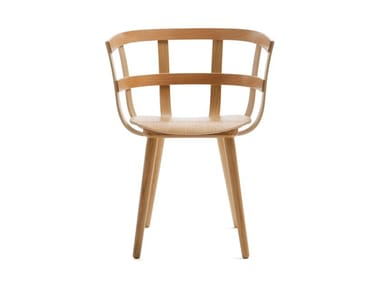 Wooden chair with armrests JULIE | Chair