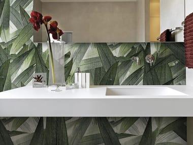 Papel de parede lavável panorâmico de fibra de vidro JUNGLE FOLIAGE