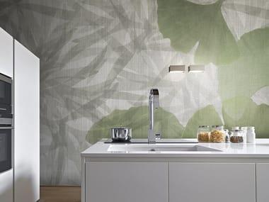 Vinyl or fyber glass wallpaper JUNGLE GINKOBA