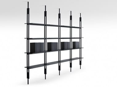 Open floor-ceiling mounted bookcase JACK