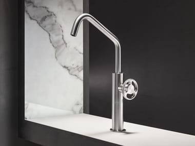 Countertop single handle stainless steel washbasin tap without waste KÀTO