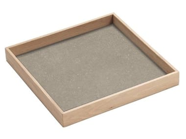 Square laminated stoneware tray K BOX
