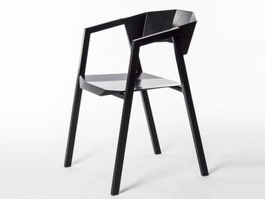 Aluminium chair with armrests K