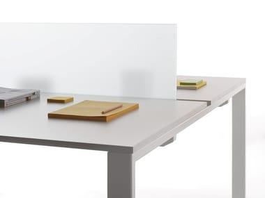 Pannello divisorio da scrivania in vetro temperato K-WORD | Pannello divisorio da scrivania in vetro