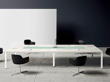 Tavolo da riunione rettangolare in legno K-WORD | Tavolo da riunione rettangolare