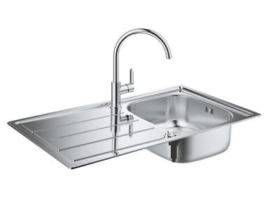 Lavello a una vasca da incasso in acciaio inox con gocciolatoio K200 | Lavello