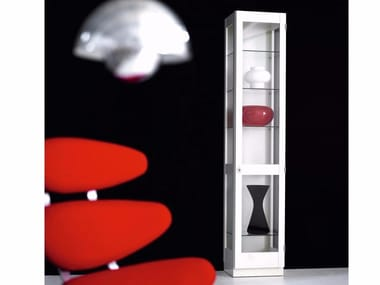 Scandinavian style glass display cabinet KA72 | 748