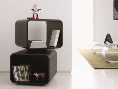 Swivel modular MDF bookcase KAAR