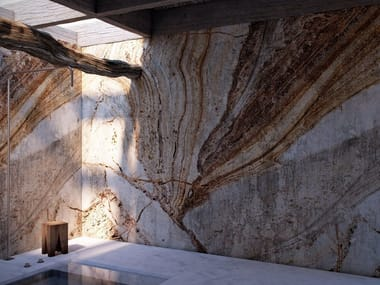 Carta da parati lavabile in vinile effetto marmo KALAHARI