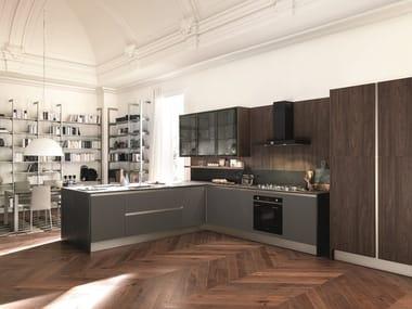 Dekton® kitchen with peninsula KALEIDOS 02