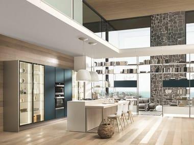 Fenix-NTM® kitchen with island KALEIDOS 03
