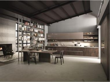 Linear porcelain stoneware kitchen KALEIDOS 04