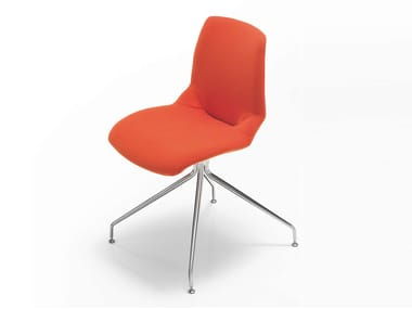 Trestle-based fabric chair KALEIDOS | Fabric chair