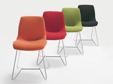 Sled base Trevira® CS chair KALEIDOS | Trevira® CS chair