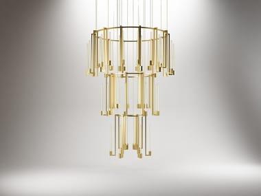 Murano glass pendant lamp KALI' CHANDELIER 3 RINGS