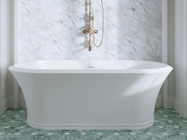 Baignoire ilôt ovale en White Tec Plus KALOS | Baignoire