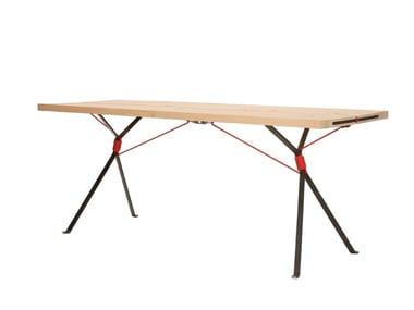 Rectangular spruce table KAMPENWAND   Table