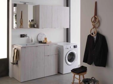 Mobile lavanderia in nobilitato con lavatoio KANDY 05