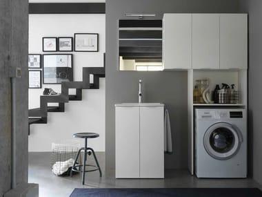 Mobile lavanderia in nobilitato con lavatoio per lavatrice KANDY 11