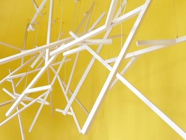Indirect light fluorescent aluminium pendant lamp KAO | Pendant lamp