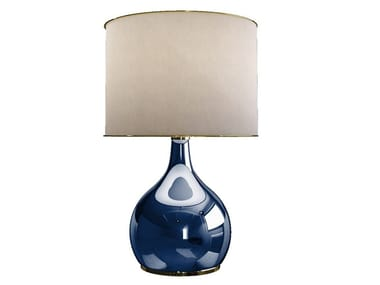 Glass and fabric table lamp KAPOOR