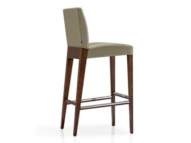 Cadeira de pele com apoio de pés KAREN | Cadeira