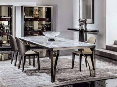 rectangular marble dining table karl marble table - Marble Dining Table