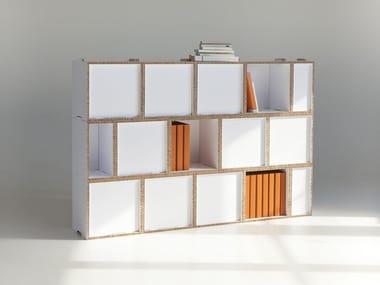 Modular cardboard bookcase KASAA