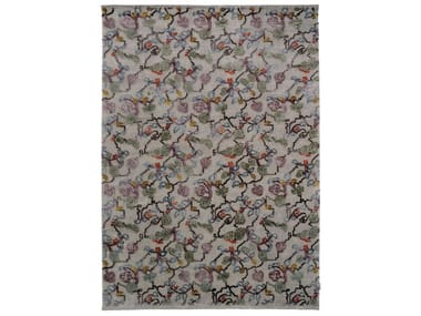 Patterned handmade custom wool rug KASHMIR