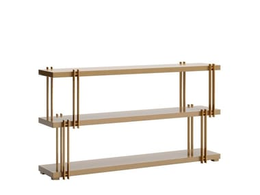 Rectangular console table with shelving KASSEL | Console table