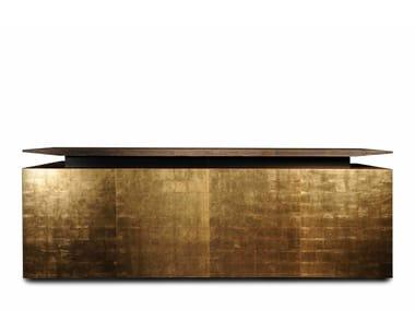 Madia foglia oro con ante a battente KATAI 3