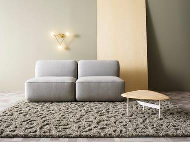 Solid-color wool rug KATJA