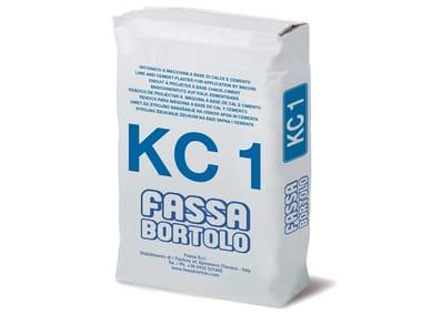 Intonaco di fondo a base di calce e cemento KC 1