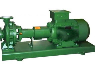 Pompe centrifughe normalizzate secondo DIN-EN 733 su basamento con motore e giunto - Girante in ghisa KDN 125 - Ghisa