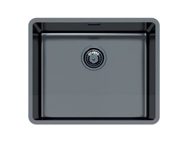 Single flush-mounted stainless steel sink KE 50 VINTAGE GUNMETAL FT