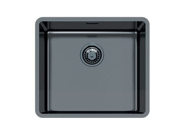 Single flush-mounted stainless steel sink KE R15 45X40 FT GUNMETAL