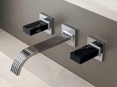 3 hole wall-mounted brass washbasin tap KEA | Wall-mounted washbasin tap