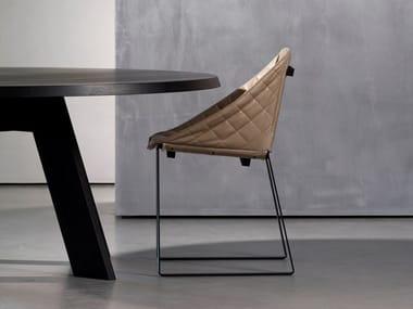 Sled base upholstered chair KEKKE LIVING | Chair